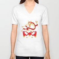 pacific rim V-neck T-shirts featuring Pacific Rim: Crimson Typhoon by MNM Studios