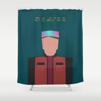 marty mcfly Shower Curtains featuring Marty McFly 2015 by Migui Díaz