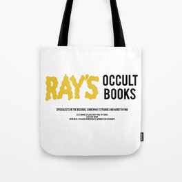 Ray's Occult Books Ghostbusters tribute Tote Bag