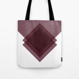 Modern Geometric Art Deco Burgundy Tote Bag
