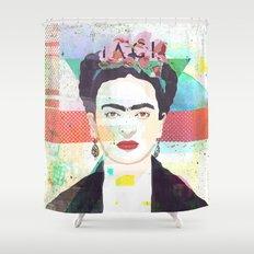 The fuc.... Frida Shower Curtain