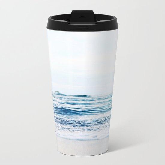 Blue Waves Metal Travel Mug