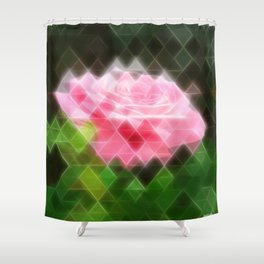 Pink Roses in Anzures 3 Art Triangles 2 Shower Curtain