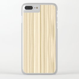 Maple Wood Surface Texture Clear iPhone Case