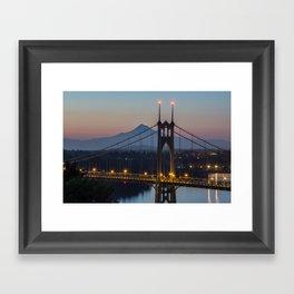 Mornings at St. Johns Bridge Framed Art Print