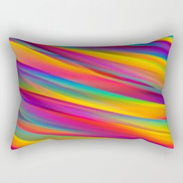 Abstract Colorful Decorative Wavy Pattern Rectangular Pillow