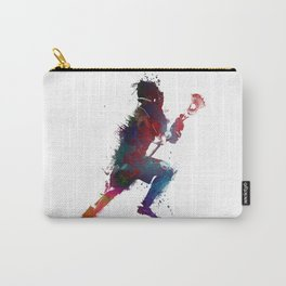 Lacrosse player art 1 Carry-All Pouch