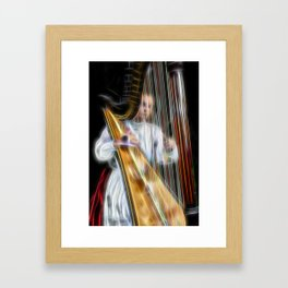 The Harp Player Abstract Framed Art Print