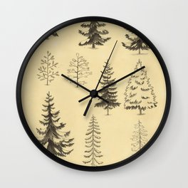 Pines and Spruces Wall Clock