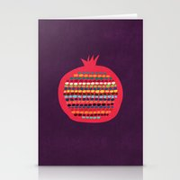 pomegranate Stationery Cards featuring Pomegranate by Picomodi