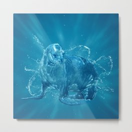 Abstract water South American sea lion Metal Print