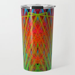 A Psychedelic Hand of Cards Travel Mug