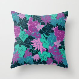 Spring Succulents Throw Pillow