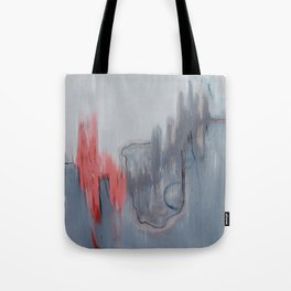 No. 15 Grey and Coral Ombre Pastel Abstract Painting  Tote Bag