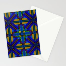 MOROCCAN ORNAMENT_in blue Stationery Cards
