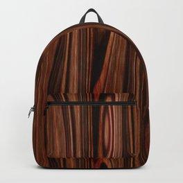 Brown Red Wood Backpack