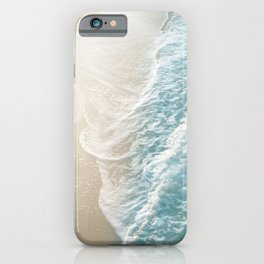 Soft Teal Gold Ocean Dream Waves #1 #water #decor #art #society6 iPhone Case