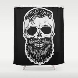 BLACK SKULL Shower Curtain