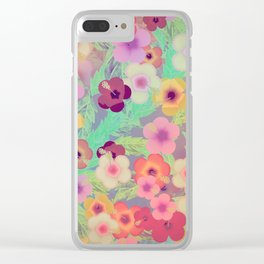 Hibiscus (The Rabbit Hole) Clear iPhone Case