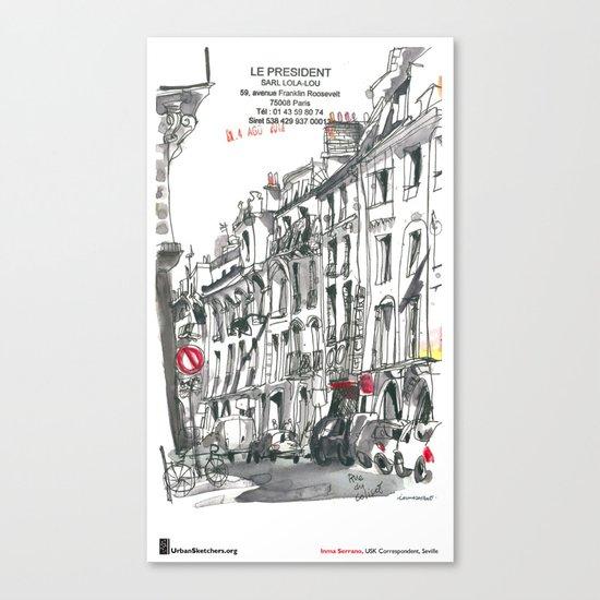 "Inma Serrano, ""Rue du Colisée, Paris"" Canvas Print"