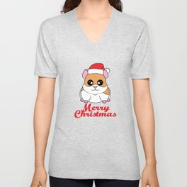 Fan of Guinea Pig and Christmas? Have them both with this cute and adorable tee!  Unisex V-Neck