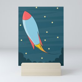 Rocket Spaceship Mini Art Print