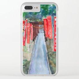 Shinto shrine entrance Clear iPhone Case