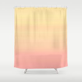 Pastel Millennial Pink Yellow Ombre Striped Gradient Shower Curtain