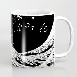 Black and White Great Wave Coffee Mug