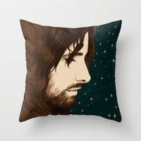 aragorn Throw Pillows featuring Aragorn by cos-tam