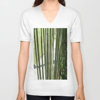 bamboo V-neck T-shirts featuring BAMBOO by Manuel Estrela 113 Art Miami