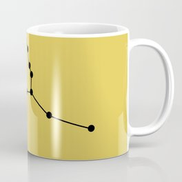 TAURUS (BLACK-GOLD STAR SIGN) Coffee Mug