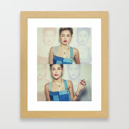 Miley Cyrus x Cigarette  Framed Art Print