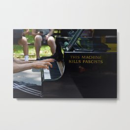 This Machine Kills Fascists Metal Print