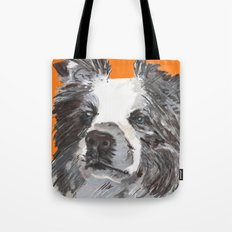 Border Collie printed from an original painting by Jiri Bures Tote Bag