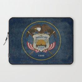 Utah State Flag, vintage retro style Laptop Sleeve