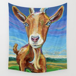 Lillie the FARM GOAT Painting Wall Tapestry
