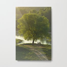 Evening Rest On The River Metal Print
