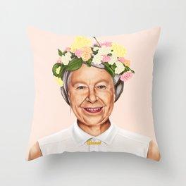 Hipstory - Queen Elizabeth Throw Pillow