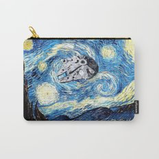 Falcon flies the Starry Night Carry-All Pouch