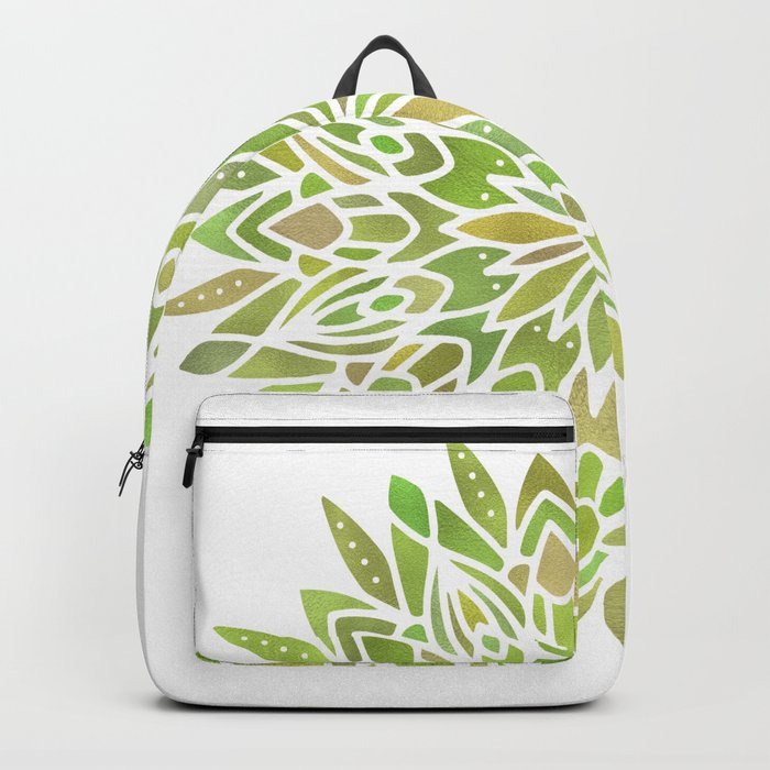 Mandala Desert Cactus Green Backpack