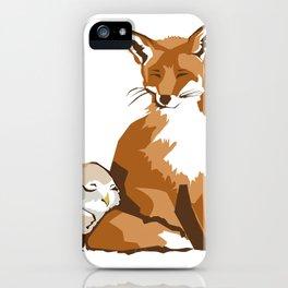 El zorro y la lechuza iPhone Case