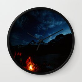 Backpacking Fire Wall Clock