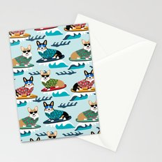 Corgi SUP Paddleboarding surfing watersports athlete summer fun dog breed Stationery Cards