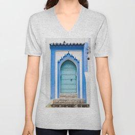 Doors - Chefchaouen, Morocco Unisex V-Neck
