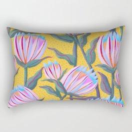 Bold Protea Flower Pattern - Pink Blue Green Purple Yellow Rectangular Pillow