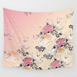 ombre floral - all Wall Tapestry