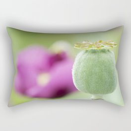 Hungarian Blue Bread Seed Poppy | Seed Pod Alternate Perspective Rectangular Pillow