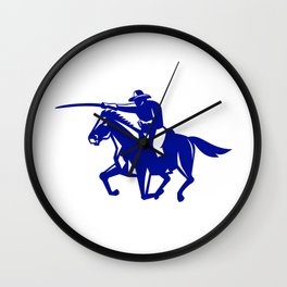 American Cavalry Charging Retro Wall Clock