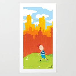Living in the city  Art Print